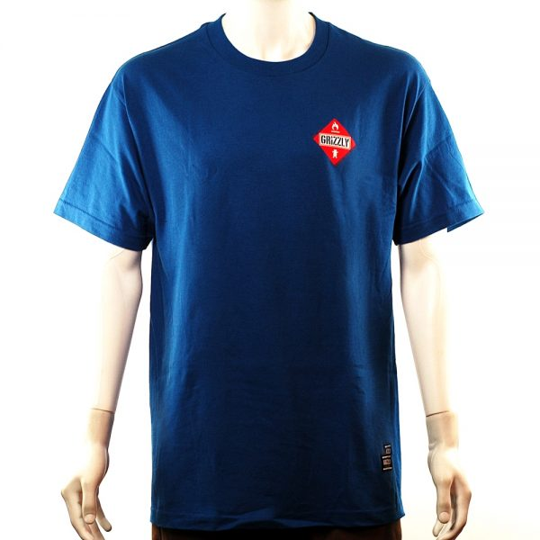 Grizzly Holiday Heat Tee Royal Blue
