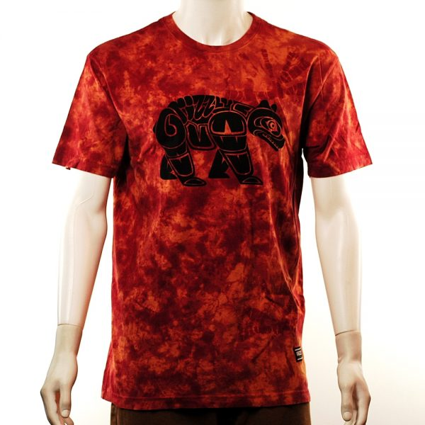 Grizzly Tribe Of Bears Tee Rust Tie-Dye