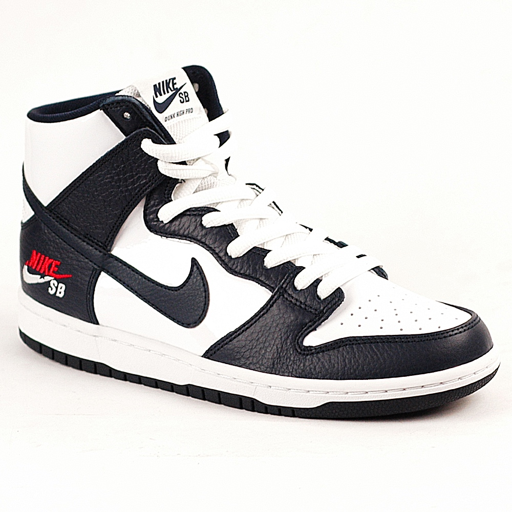 nike sb dunk high pro obsidian white forty two. Black Bedroom Furniture Sets. Home Design Ideas