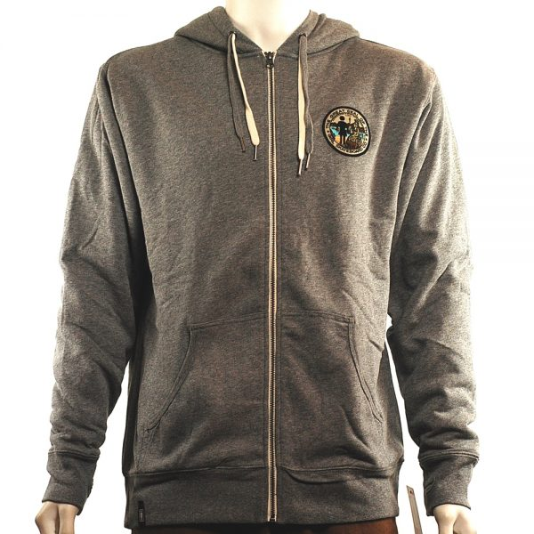 Girl Great Seal Sherpa Lined Zip Hood Grey Front