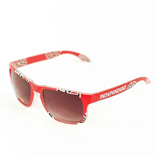 Indy Bar and Cross Sunglasses Red