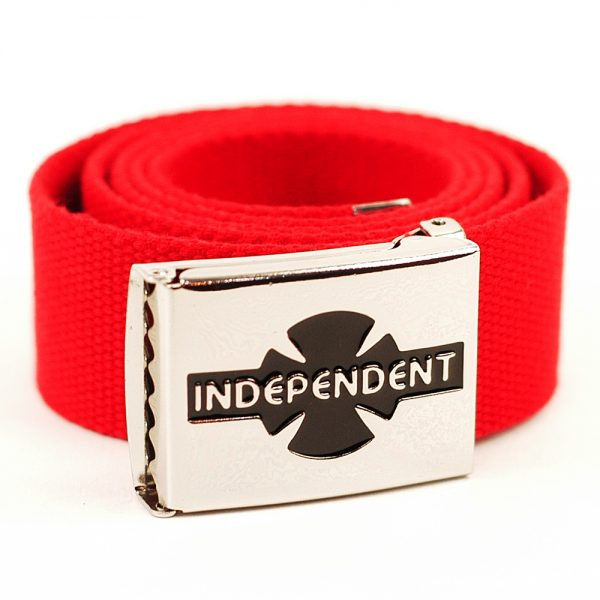 Indy Clipped Web Belt Cardinal Red