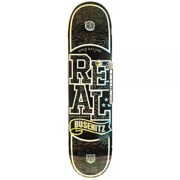 Real Low Pro Holographic Busenitz Deck Black 8.06