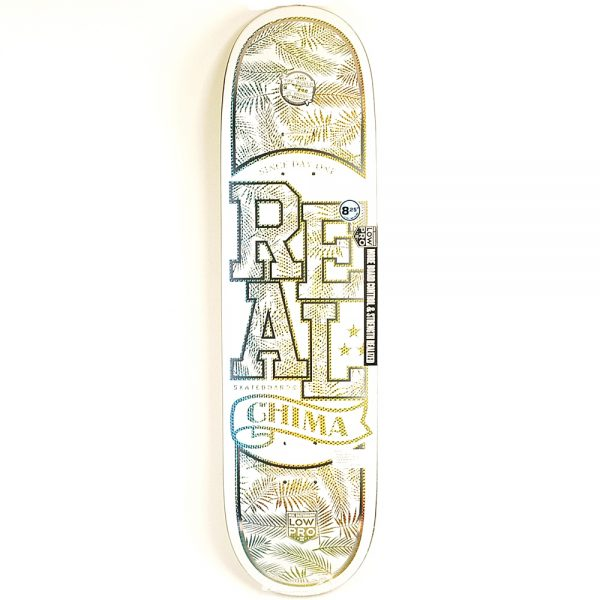 Real Low Pro Holographic Chima Deck White 8.25