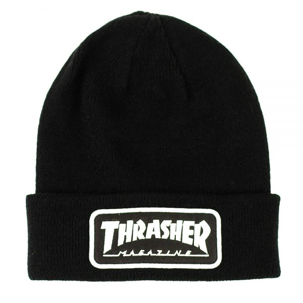 Thrasher Patch Beanie Black