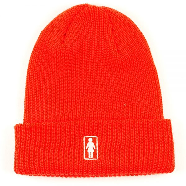 Girl OG Fold Beanie Orange