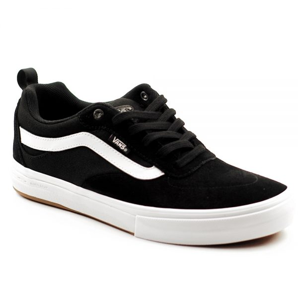 Vans UK Kyle Walker Pro Skate Shoe Black White Suede