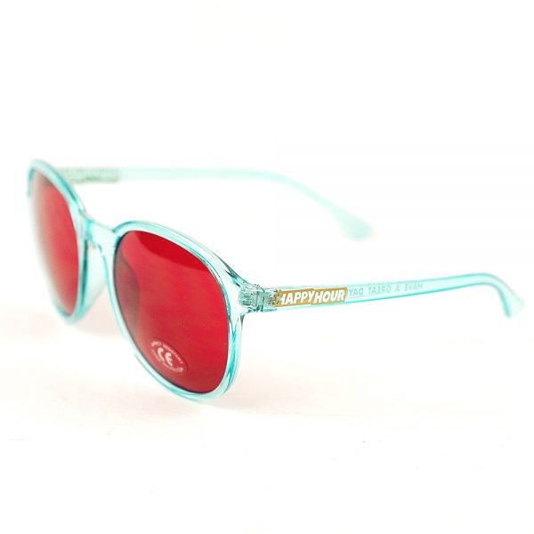 Happy Hour Manhattan Sunglasses Crystal Blue Red