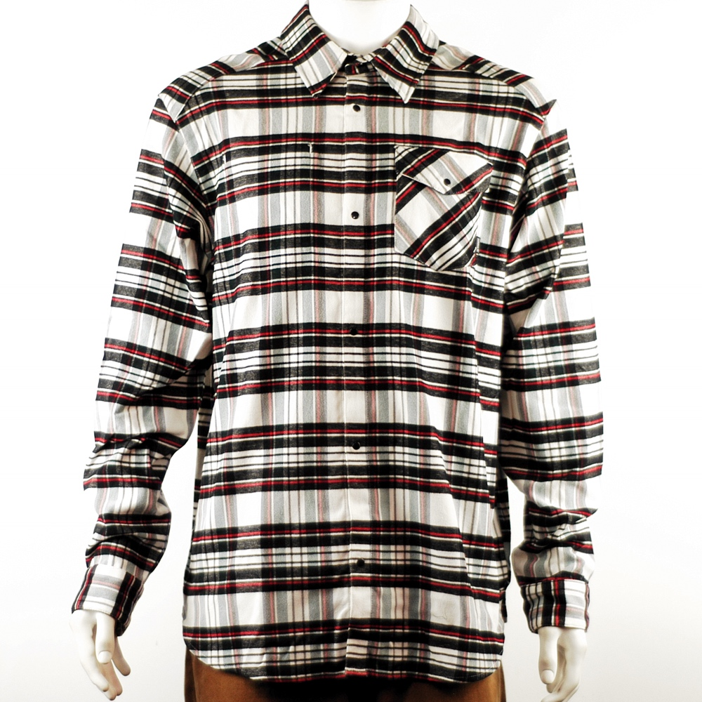 Adidas Tartan Flannel Long Sleeve Shirt