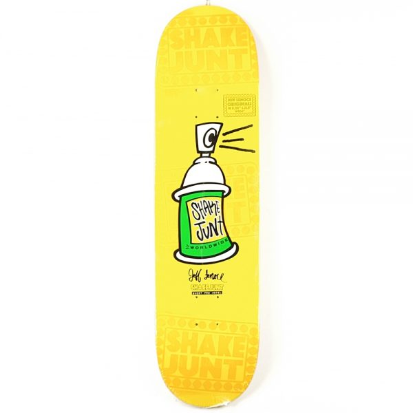 Shake Just Skateboards UK Lenoce Props Deck in yellow