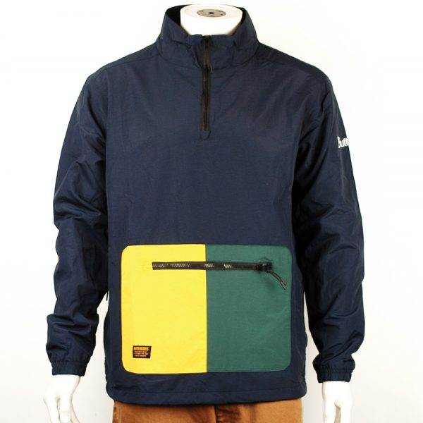 Butter Goods Upwind 1-4 Zip Jacket Navy