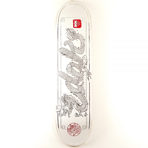 DGK Dragon Deck White 8.06