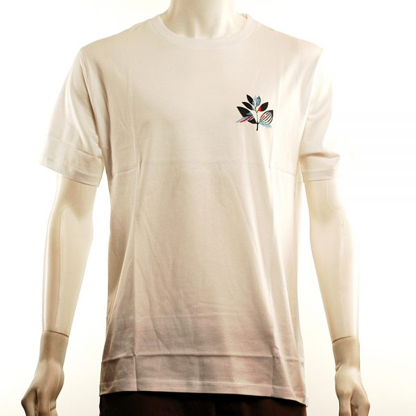 Magenta Parrot Tee White Front