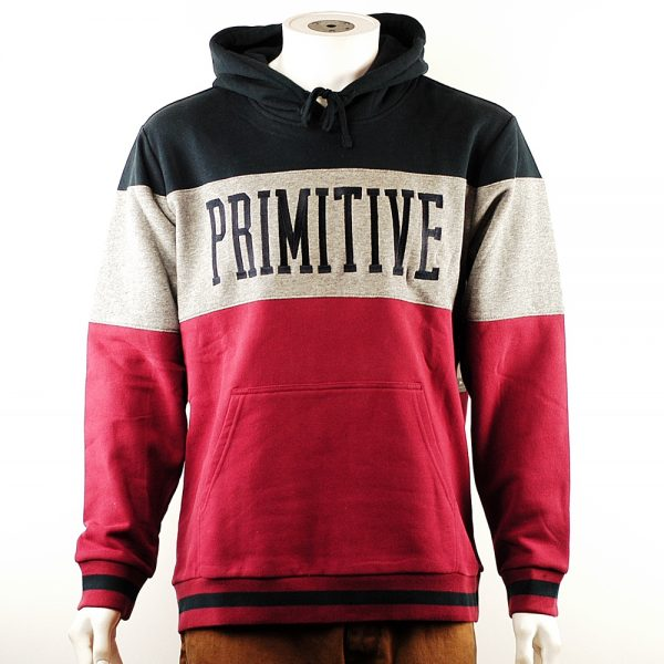 Primitive League Paneled Pullover Hood Brick
