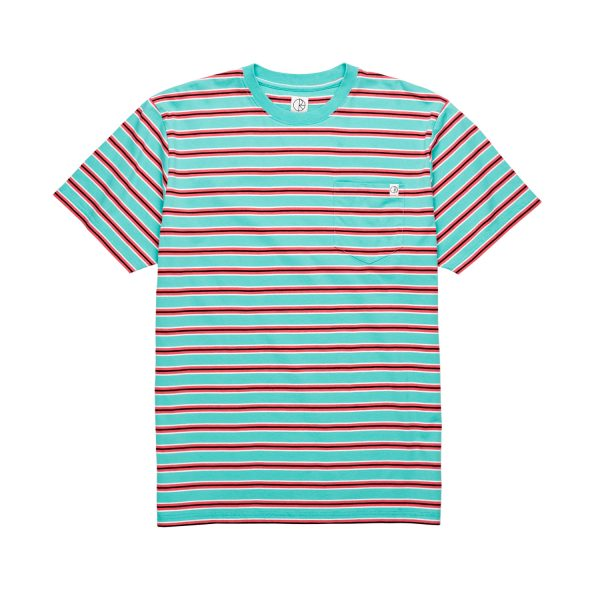 STRIPED-POCKET-TEE-MINT-CORAL-RED-1