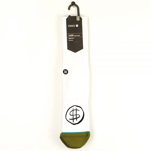 Stance Skate Days Socks White Large