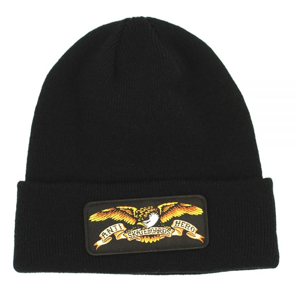 Anti Hero Eagle Patch Cuff Beanie Black