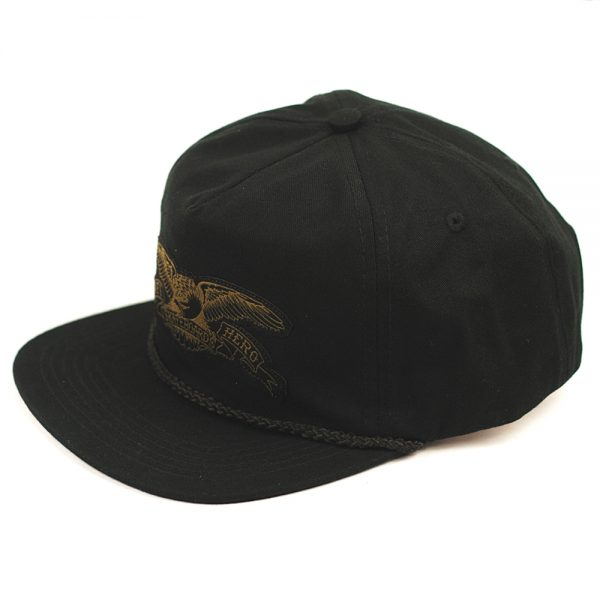 Anti Hero Eagle Patch Snapback Cap Black:Olive