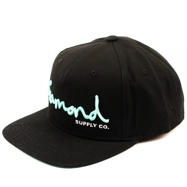Diamond OG Script Snapback Core Black