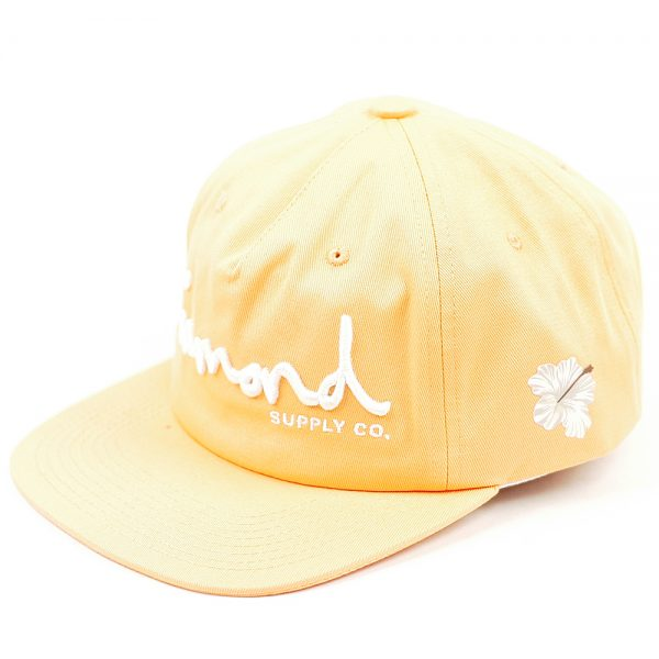 Diamond OG Script Unstructured Snapback Coral