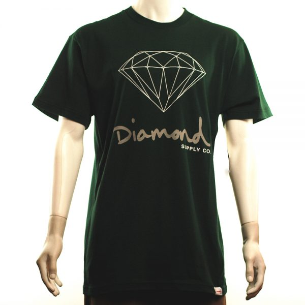 Diamond OG Sign Tee Hunter Green