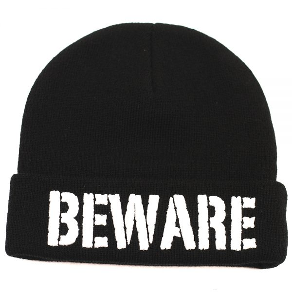 Grizzly Beware Puff Beanie Black