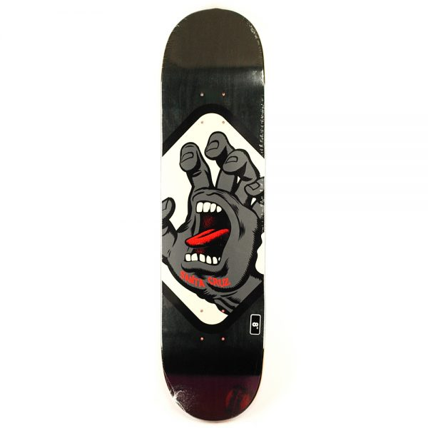 Santa Cruz Screaming Hand Badge Deck Black 8.0