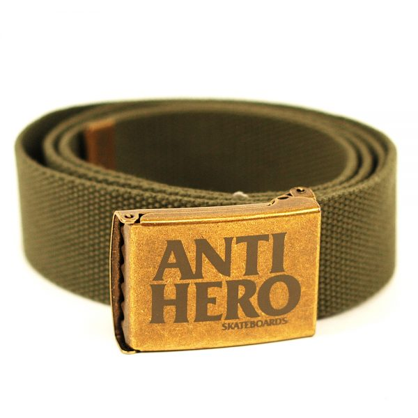 Anti Hero Web Belt Brass Army Green