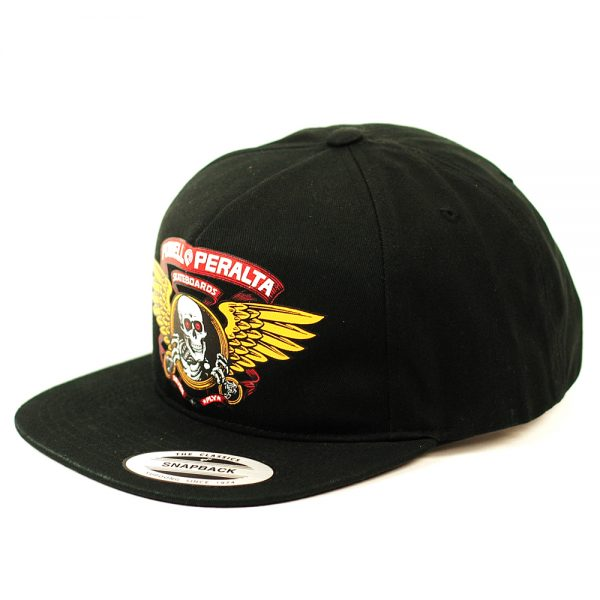 Powell Peralta Winged Ripper Snapback Cap Black