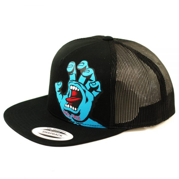 Santa Cruz Screaming Hand Mesh Trucker Cap Black