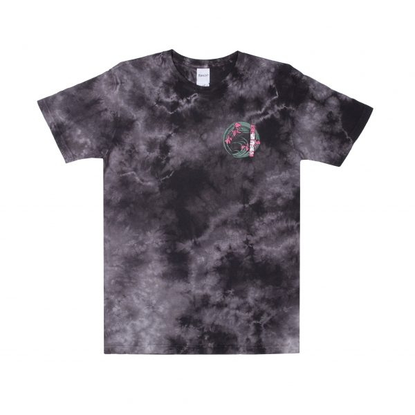 Warrior Tee (Black : White Tie Dye) Front