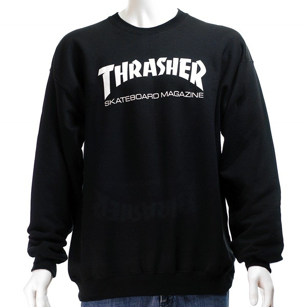 818b7d4b34a9 Thrasher Skate Mag Crew Black - Forty Two Skateboard Shop
