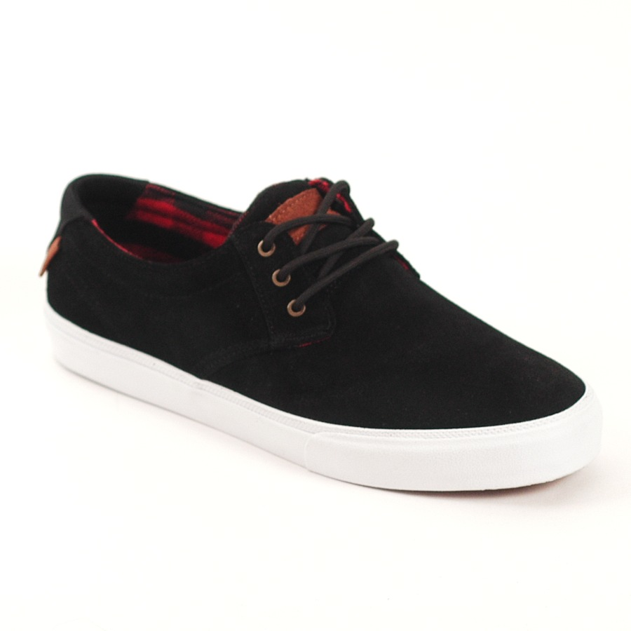Lakai MJ Black Red Suede Skate Shoe