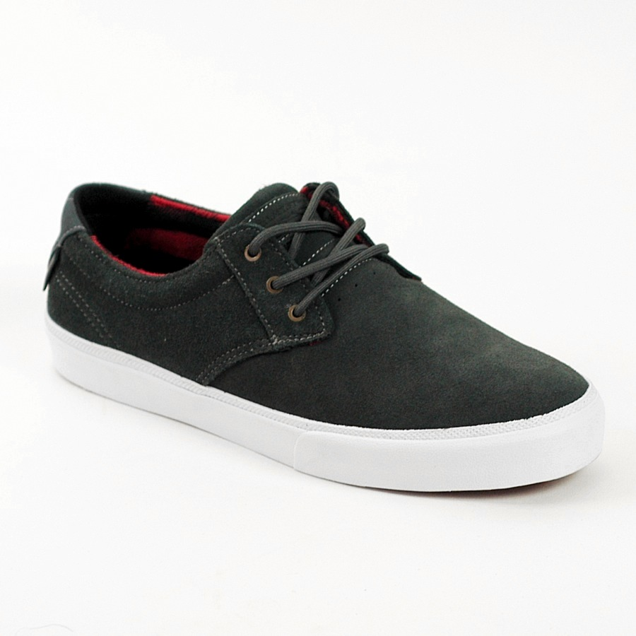Lakai MJ Grey Red Suede Skate Shoes