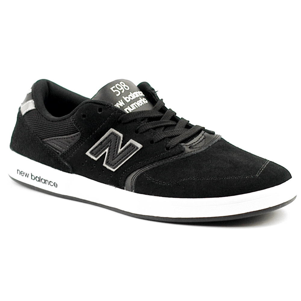 New Balance Numeric 598 Black White Suede UK