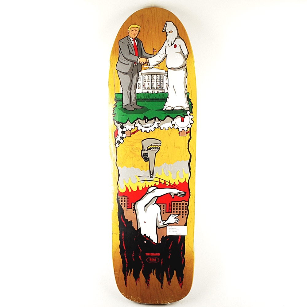 Real Skateboards Justice wrench deck shaped board 9.78