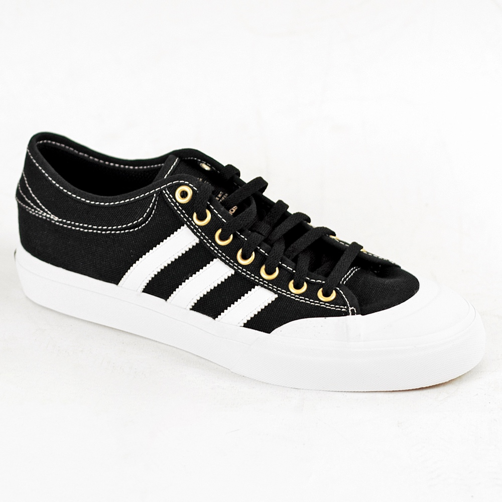 Adidas Matchcourt Black White Gold UK Skateboarding