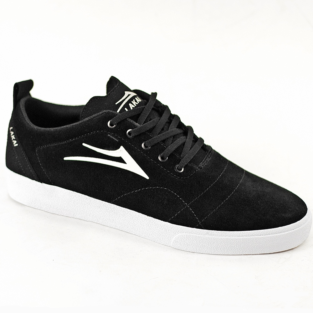 Lakai Bristol Black White Suede UK