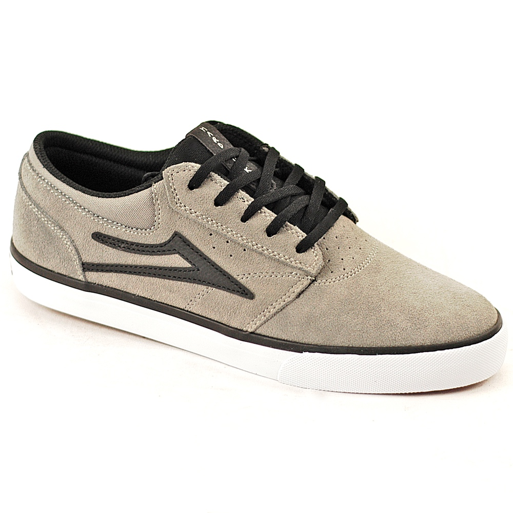 Lakai Griffin x Hard Luck Uk Skate Shoes in Grey Suede