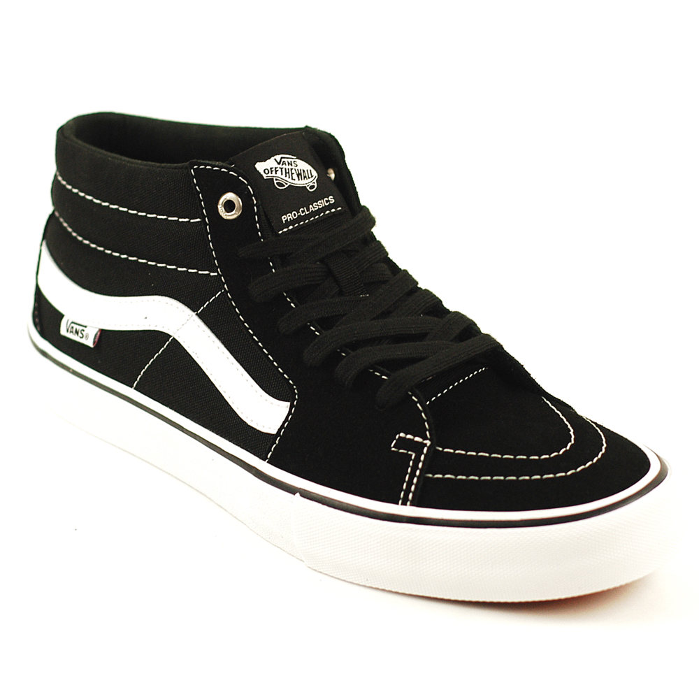 fcf6100b26 Vans Sk8-Mid Pro Black-White - Forty Two Skateboard Shop
