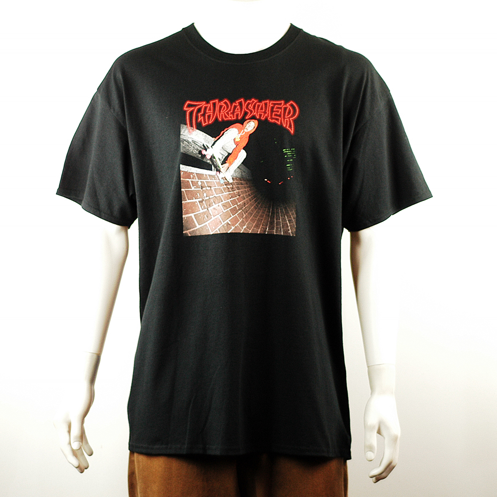 21a1ad31b18a Thrasher China Banks Tee Black - Forty Two Skateboard Shop