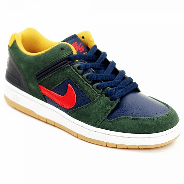Nike SB Airforce 2 Low Forest Green and Hananero Red UK