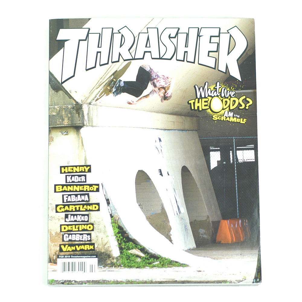 3a589927a32a Thrasher Magazine February 2019 - Forty Two Skateboard Shop