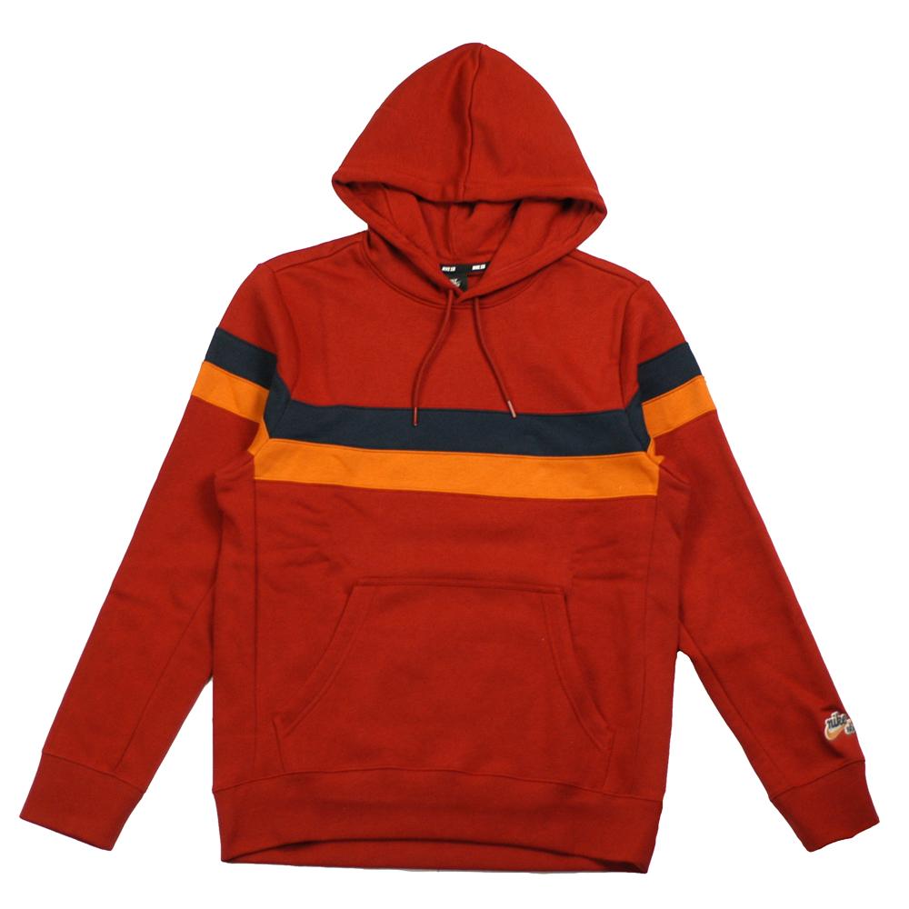 5d728986 Nike SB Icon Stripes Hooded Sweatshirt Crimson - Forty Two Skateboard Shop
