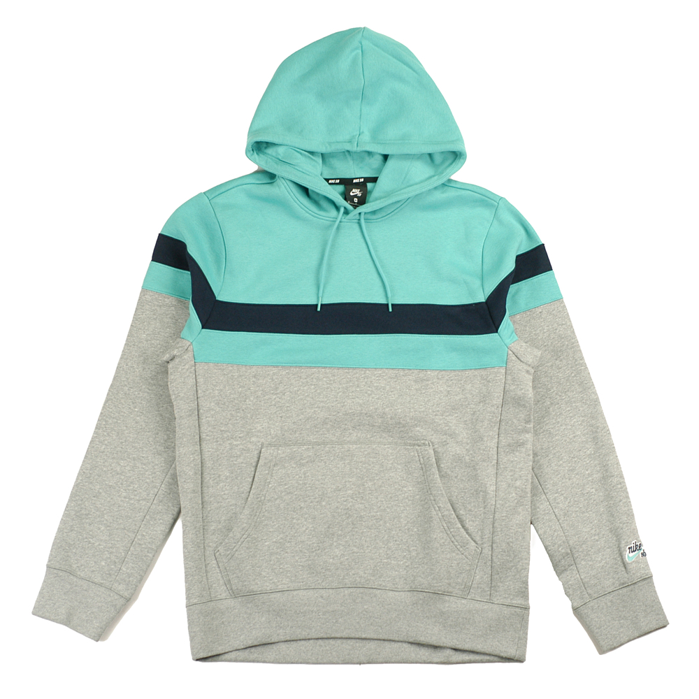 save off 30829 9c340 Nike SB Icon Stripes Hooded Sweatshirt Teal - Forty Two Skateboard Shop
