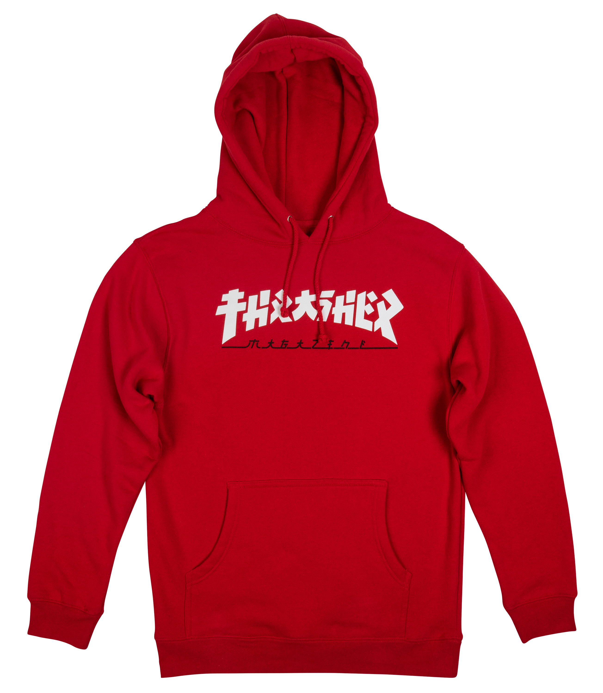 40cd138ba44e Thrasher Godzilla Hooded Sweatshirt Red - Forty Two Skateboard Shop