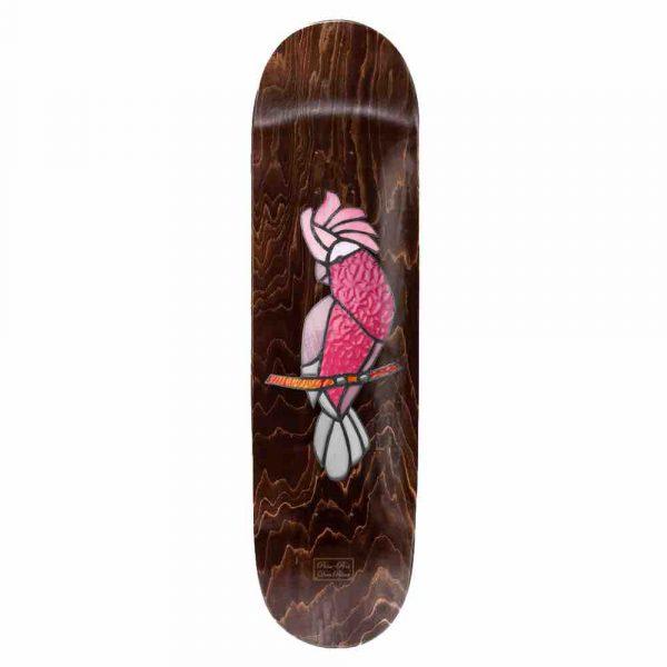 Passort skateboards australia Dean Palmer stainglass galah deck in 8 inches wide