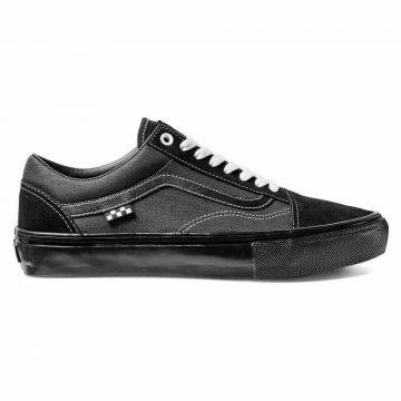 Vans skate old skull skate shoe in black tech tuff